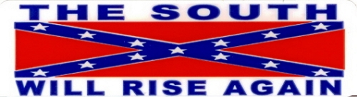 CONFEDERATE FLAG THE SOUTH WILL RISE AGAIN HELMET STICKER