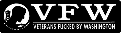POW/MIA VFW Veterans Fucked By Washington Motorcycle Helmet Sticker