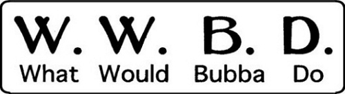 W.W.B.D. What Would Bubba Do Motorcycle Helmet Sticker