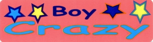 BOY CRAZY HELMET STICKER