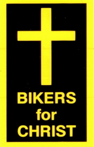 BIKERS FOR CHRIST HELMET STICKER