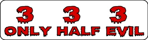 333 ONLY HALF EVIL HELMET STICKER