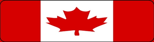 CANADIAN FLAG HELMET STICKER