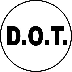 D.O.T. HELMET STICKER