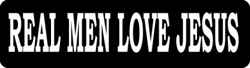 Real Men Love Jesus Motorcycle Helmet Sticker