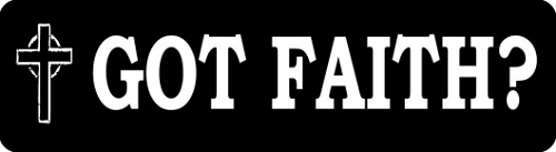 Got Faith Motorcycle Helmet Sticker
