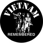 VIETNAM REMEMBERED (ROUND) HELMET STICKER