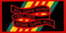ALL GAVE SOME SOME GAVE ALL 1957-1975 MEDIUM (RECTANGLE) STICKER
