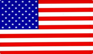 AMERICAN FLAG (LARGE) RECTANGLE STICKER