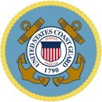 COAST GUARD EMBLEM (ROUND) HELMET STICKER