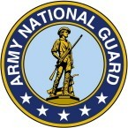 ARMY NATIONAL GUARD EMBLEM (ROUND) HELMET STICKER