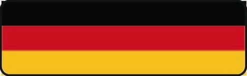 German Flag Motorcycle Helmet Sticker