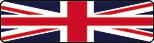 BRITISH FLAG HELMET STICKER