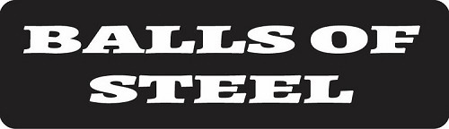Balls Of Steel Motorcycle Helmet Sticker