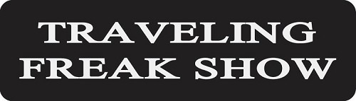 Traveling Freak Show Motorcycle Helmet Sticker