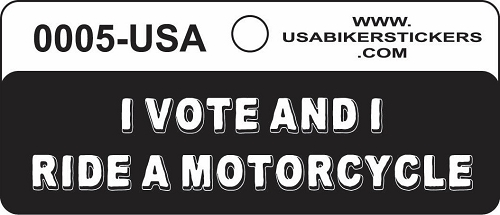 I Vote And I Ride A Motorcycle Motorcycle Helmet Sticker