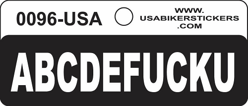 ABCDEFuckYou Motorcycle Helmet Sticker