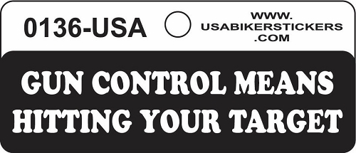 Gun Control Means Hitting Your Target Motorcycle Helmet Sticker