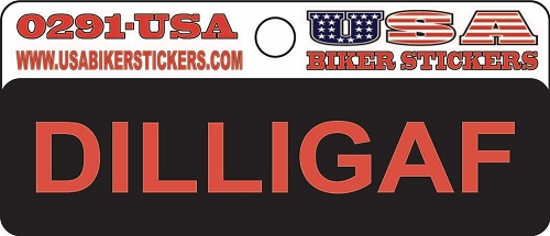 DILLIGAF Motorcycle Helmet Sticker