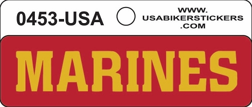 Marines Motorcycle Helmet Sticker