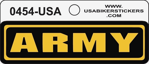 Army Motorcycle Helmet Sticker