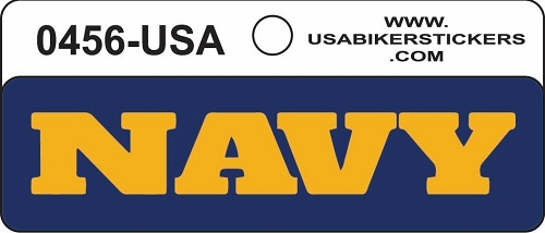 Navy Motorcycle Helmet Sticker