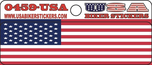 AMERICAN FLAG HELMET STICKER