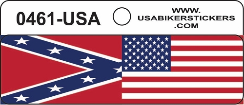 USA/Southern Flags Motorcycle Helmet Sticker