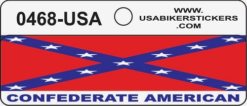 Southern Flag Confederate American Motorcycle Helmet Sticker