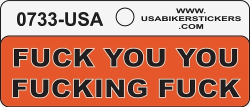 FUCK YOU YOU FUCKING FUCK HELMET STICKER