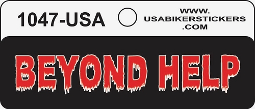 BEYOND HELP HELMET STICKER