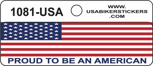 AMERICAN FLAG PROUD TO BE AN AMERICAN HELMET STICKER