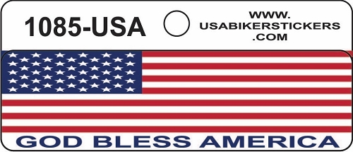 AMERICAN FLAG GOD BLESS AMERICA HELMET STICKER