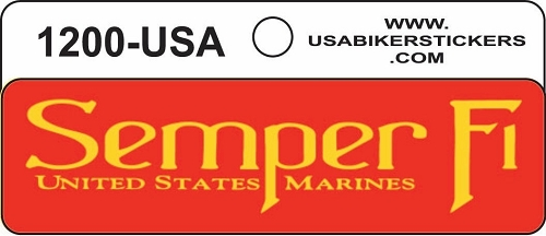 SEMPER FI UNITED STATES MARINES HELMET STICKER