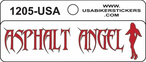 ASPHALT ANGEL HELMET STICKER