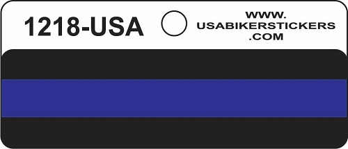 POLICE THIN BLUE LINE HELMET STICKER
